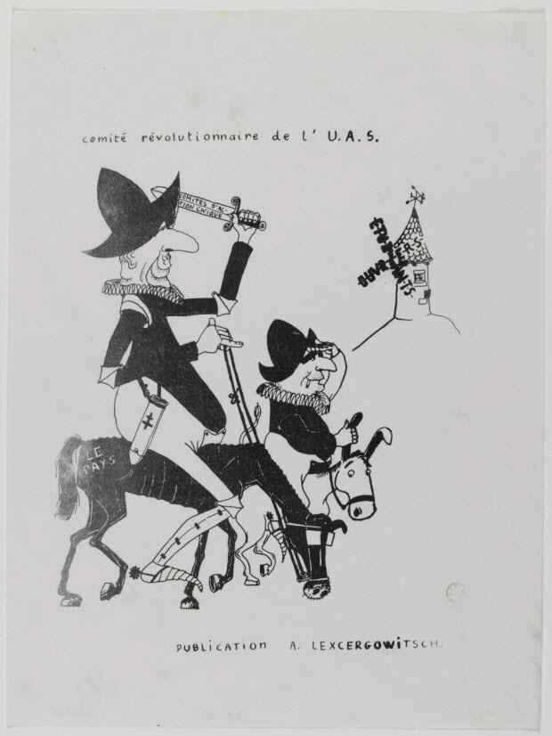 affiche - comité révolutionnaire de l'U.A.S.