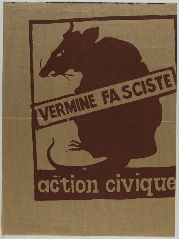 affiche - VERMINE FASCISTE ACTION CIVIQUE