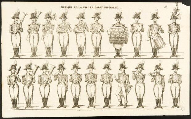 estampe - MUSIQUE DE LA VIEILLE GARDE IMPERIALE.