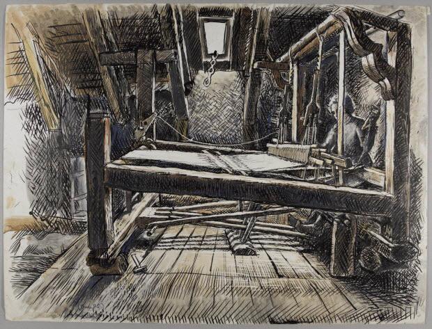 dessin - Métier à tisser à Rochefort-Montagne