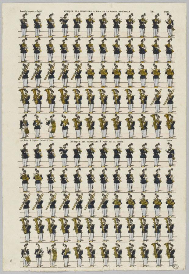 à registres (10) - MUSIQUE DES CHASSEURS A PIED DE LA GARDE IMPERIALE.