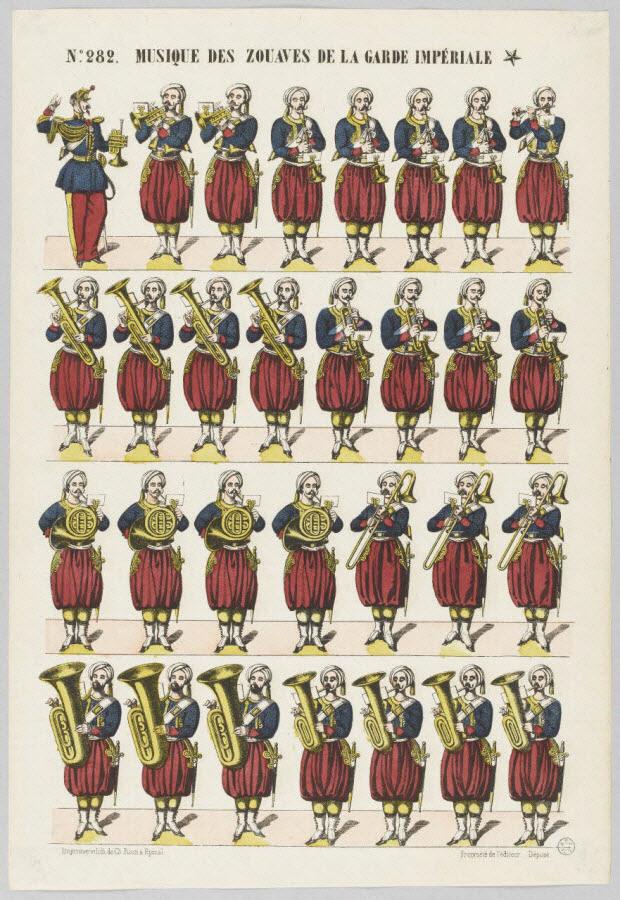 à registres (4) - MUSIQUE DES ZOUAVES DE LA GARDE IMPERIALE