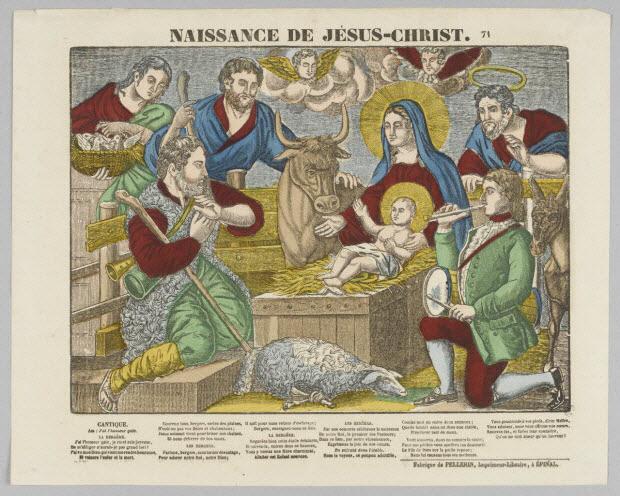 estampe - NAISSANCE DE JESUS-CHRIST.