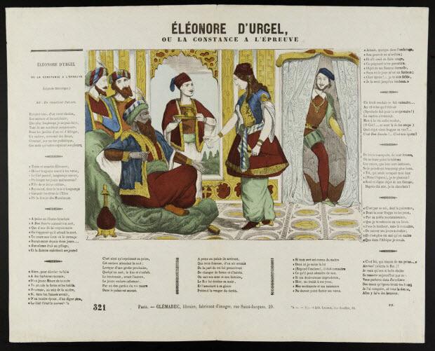 estampe - ELEONORE D'URGEL, OU LA CONSTANCE A L'EPREUVE.