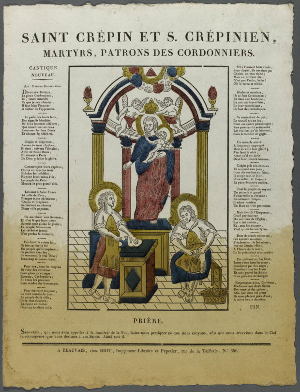 imagerie ancienne - SAINT CREPIN ET S.CREPINIEN, MARTYRS, PATRONS DES CORDONNIERS.