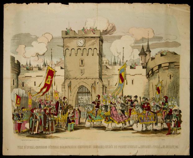 estampe - VILLE D'EPINAL, - CONCOURS REGIONAL 1864, CAVALCADE HISTORIQUE LORRAINE