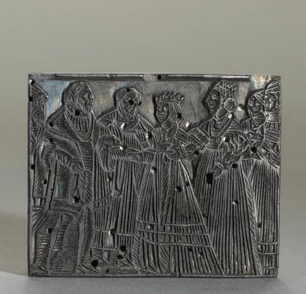 bois d'impression - Roi et Reine et 5 autres personnages