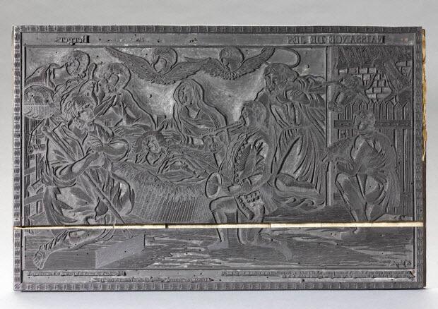 bois d'impression - Naissance de Jésus Christ Adoration des Bergers