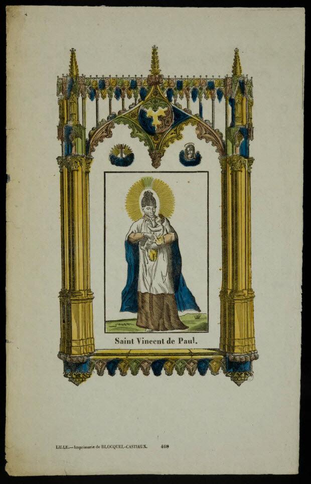 estampe - Saint Vincent de Paul.