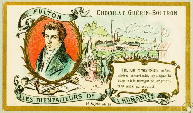 carte réclame - FULTON LES BIENFAITEURS DE L'HUMANITE