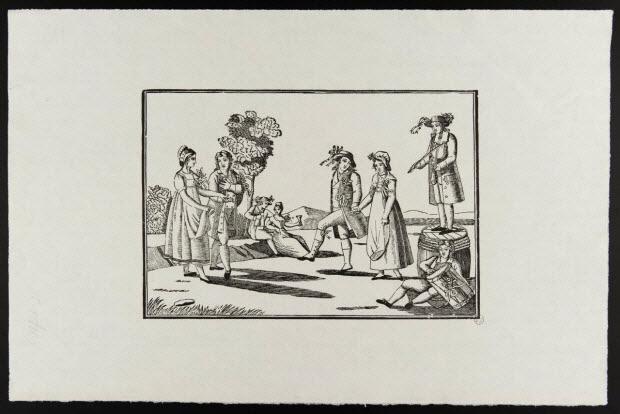 estampe - La mariée du village