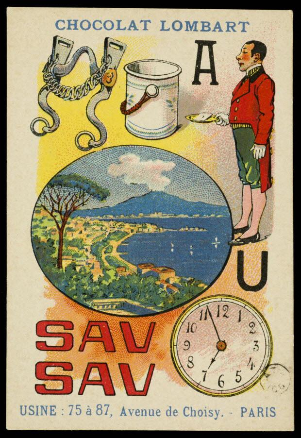 carte réclame - Rébus: Morceau avalé n'a plus de saveur