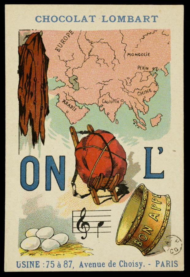 carte réclame - Rébus : L'occasion fait le larron