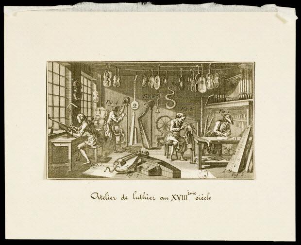 estampe - Atelier de luthier au XVIIIème siècle