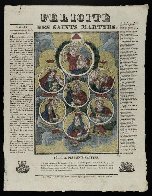 imagerie ancienne - FELICITE DES SAINTS MARTYRS.