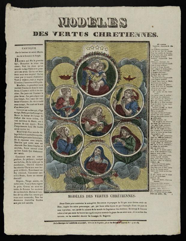 imagerie ancienne - MODELES DES VERTUS CHRETIENNES.