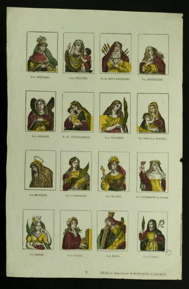 suite de figures (4x4) - Planche de saintetés
