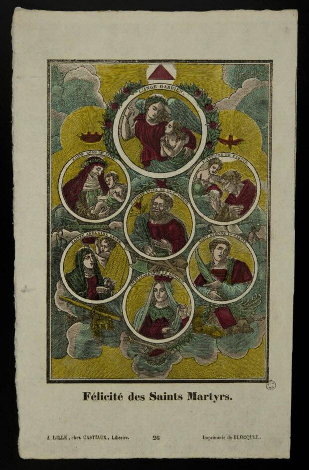 imagerie ancienne - Félicité des Saints Martyrs.