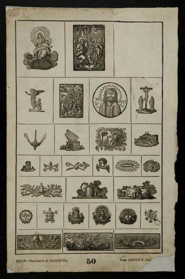 imagerie ancienne - Série de symboles