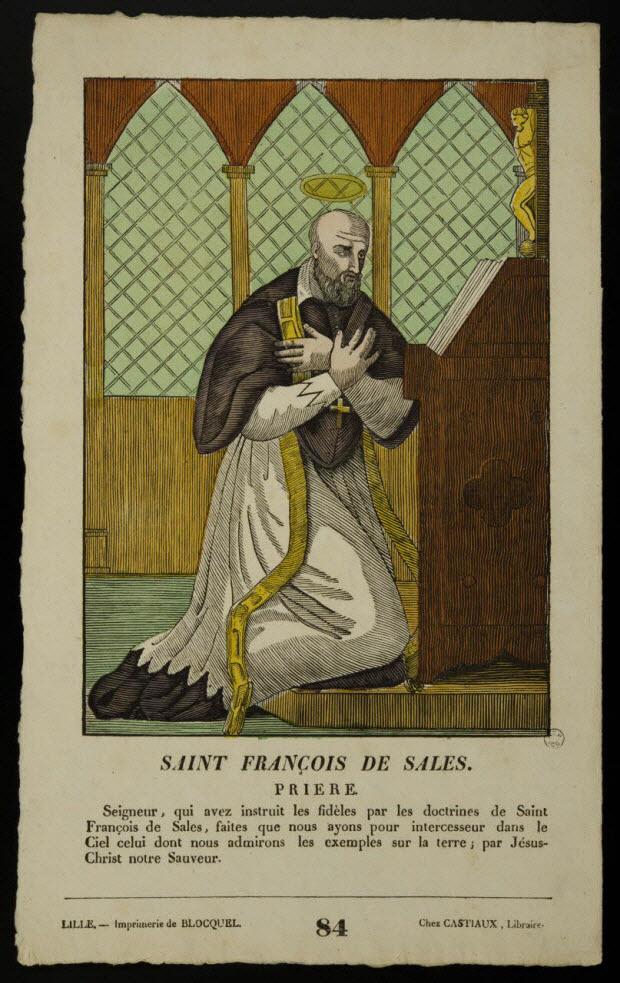 imagerie ancienne - SAINT FRANCOIS DE SALES.