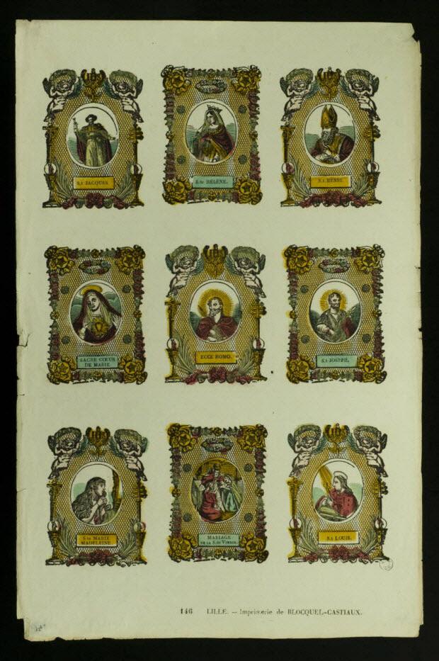 suite de figures (3x3) - Planche de saintetés