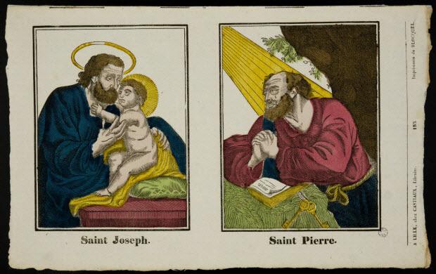 imagerie ancienne - Saint Joseph.
