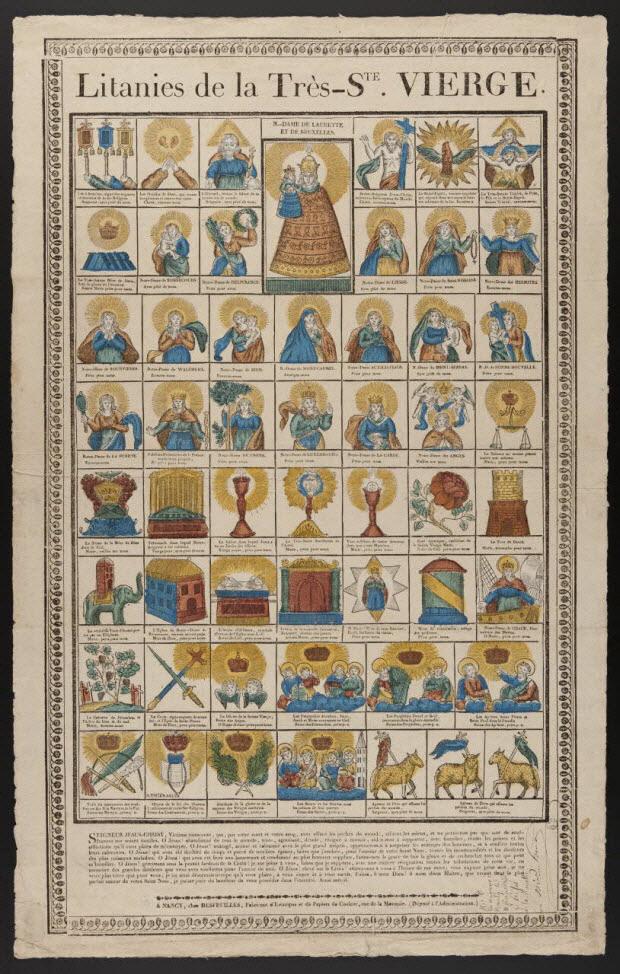 imagerie ancienne - Litanies de la Très - STE. VIERGE.