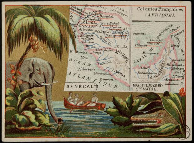Carte réclame - Colonies Françaises (AFRIQUE).