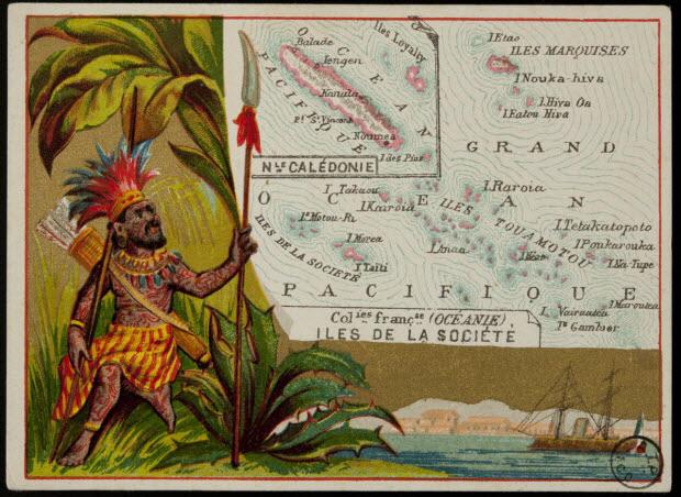 Carte réclame - Colonies françaises (OCEANIE) ILES DE LA SOCIETE
