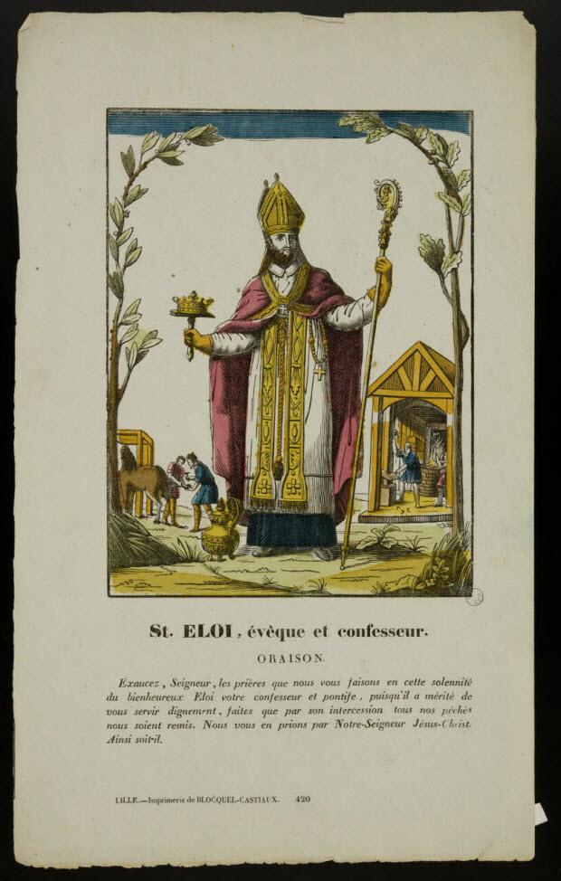 estampe - St. ELOI, évêque et confesseur.