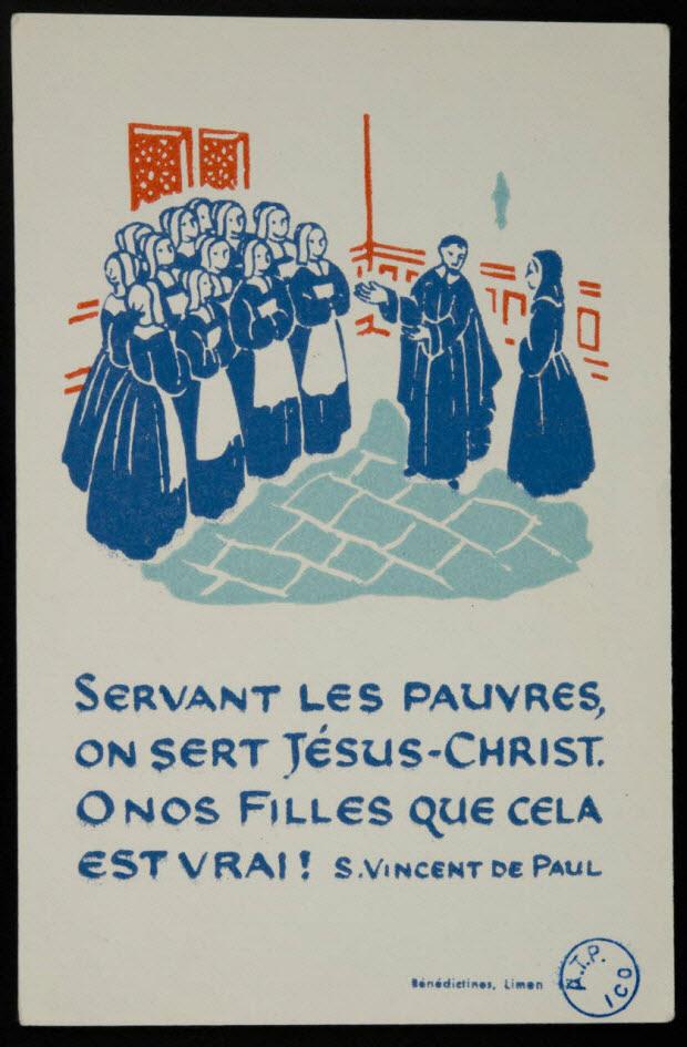 image pieuse - SERVANT LES PAUVRES, ON SERT JESUS-CHRIST.