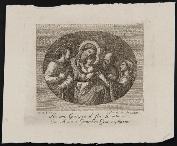 estampe - Sia con Giuseppe il fin di vita mia, Con Anna e Gioacchin e Maria