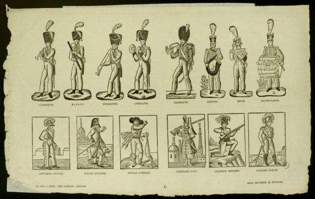 estampe - Figures de soldats