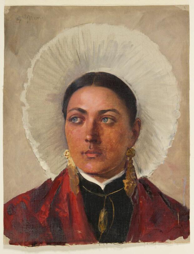 tableau - Portrait de femme en coiffe (Boulogne-sur-Mer)