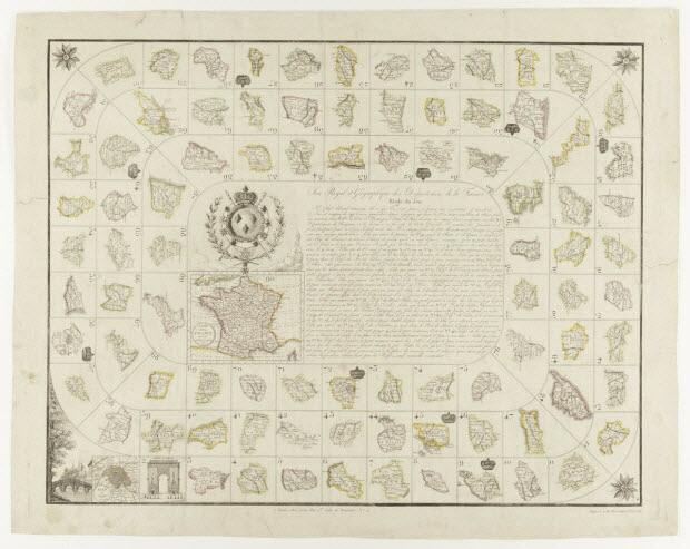jeu de l'oie - Jeu Royal et Géographique des Départemens de la France