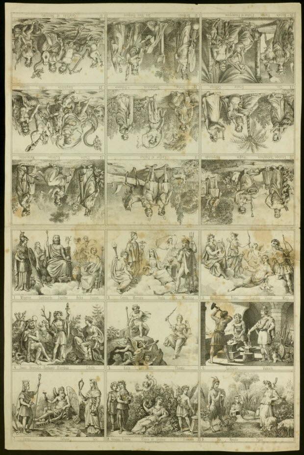 estampe - Scènes mythologiques