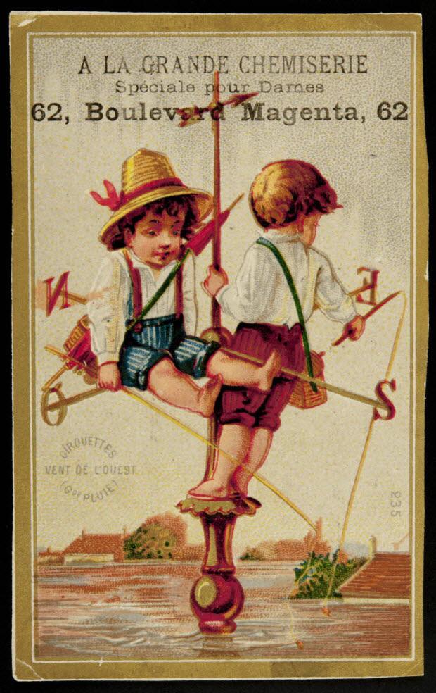 carte réclame - GIROUETTES VENT DE L'OUEST (GDE PLUIE)