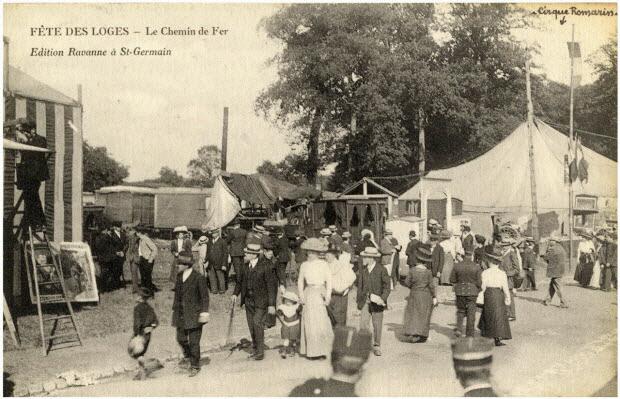 Fête des Loges. Le chemin de fer. Cirque Romarin.