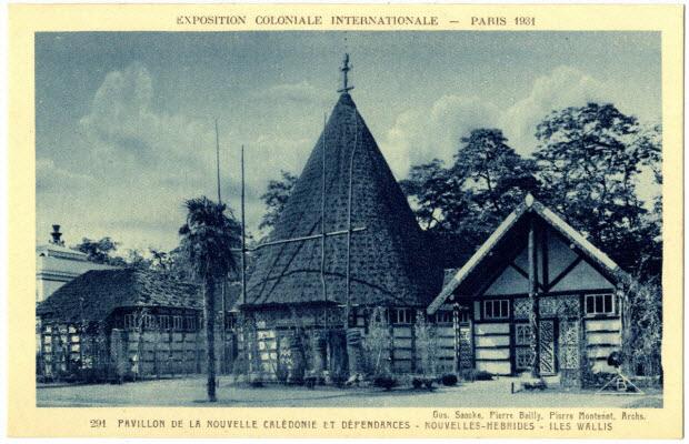 Exposition coloniale internationale. Paris 1931. Pavillon de la Nouvelle-Calédonie et dépendances. Saacke, Bailly et Montenot, architectes