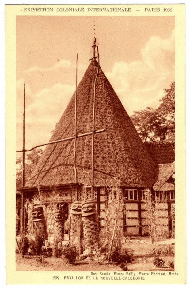 Exposition coloniale internationale. Paris 1931. Pavillon de la Nouvelle-Calédonie. Saacke, Baillly, Montenot, architectes