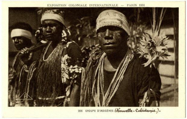 Exposition coloniale internationale. Paris 1931. Groupe d'indigènes Nouvelle-Calédonie