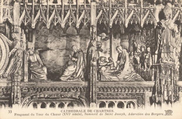 carte postale - POURTOUR DU CHOEUR (XVIe SIECLE)
