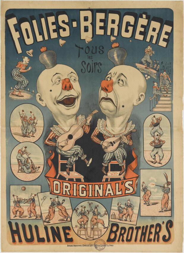 affiche - FOLIES-BERGÈRE ORIGINAL'S HULINE BROTHER'S