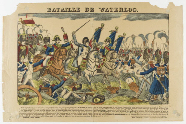 estampe - BATAILLE DE WATERLOO.