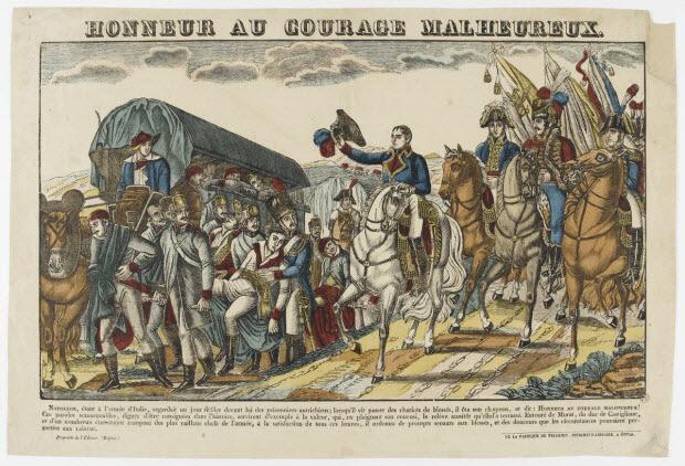 estampe - HONNEUR AU COURAGE MALHEUREUX.