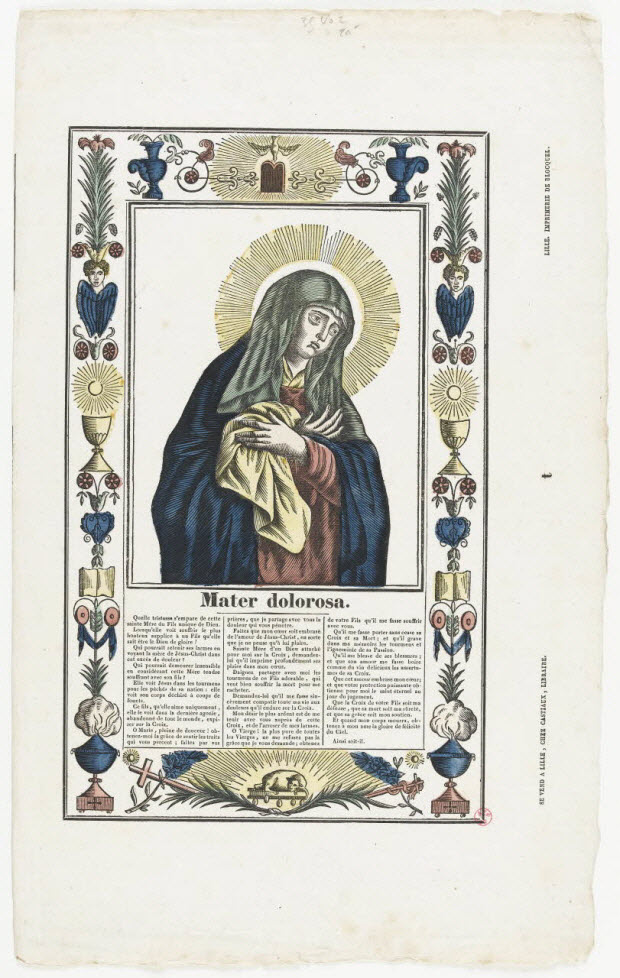 imagerie ancienne - Mater dolorosa.