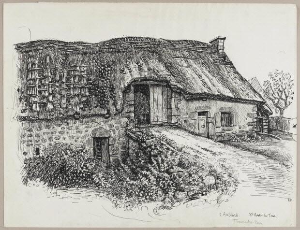 dessin - La maison de Pierre Tournadre à Rochefort-Montagne