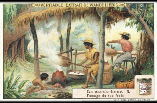 carte réclame - Le caoutchouc. 3.
