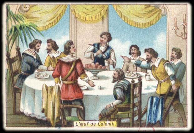 carte réclame - L'oeuf de Colomb.