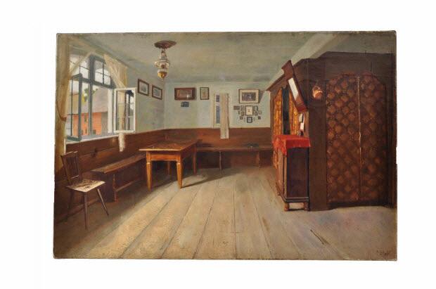 tableau - Vue d'intérieur alsacien, dit aussi chambre avec alcôve
